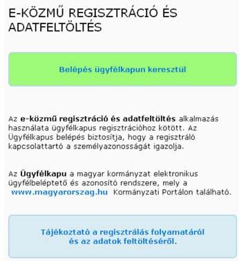 Regisztráció az E-közmű oldalon