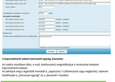 Regisztrációs adatok felvitele